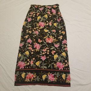 Vintage Medium Briggs Floral Maxi Skirt